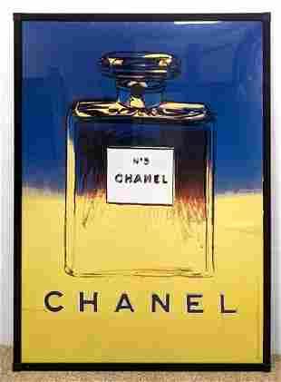 Large Framed Chanel Poster. LINEN BACKED