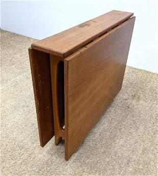 Modernist Drop Side Dining table. Slim Hide-Away Profil