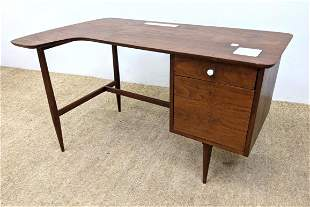 Modernist Desk. Right side Cabinet. Top has some inset
