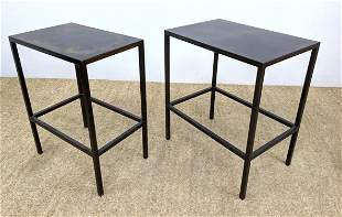 2pcs French Steel Table Stands. Different in size.
