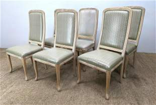 Set of 6 French Style Dining Chairs. Tall Back.