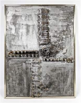 McMILLEN Modernist Abstract Collage Sculpture Art. Mixe