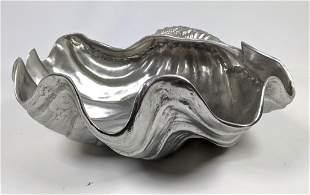Large ARTHUR COURT Clam Shell Bowl. 1988.