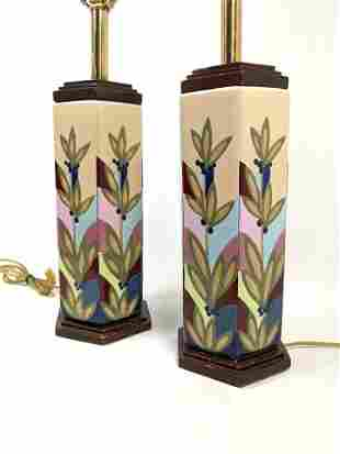 REMBRANDT Pottery Table Lamps.