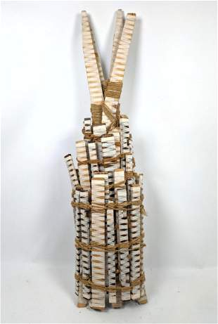 Wrapped Wood Sculpture. Bound by Belove.