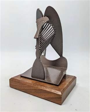 Pablo Picasso Model of Chicago Horse Sculpture. Mounte