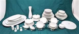 ROSENTHAL White Porcelain China Dinner Dish Set.