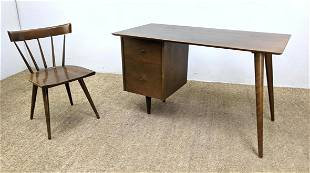 2pc PAUL McCOBB American modern Desk and Chair. Planner