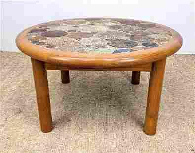 HASLEV Handmade Tile Top Table. Teak Danish Modern Fra