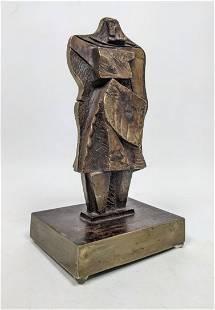 JIM BASS 7/7 Signed Abstract Cubist Bronze Sculpture. D