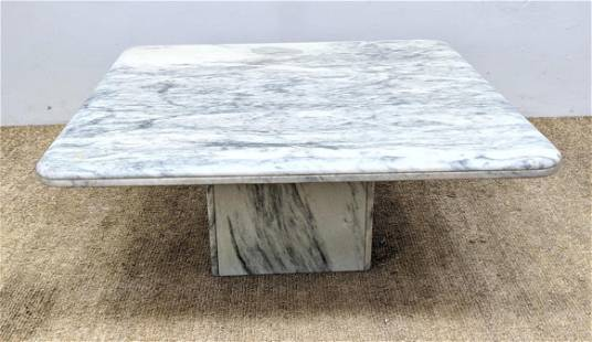 Square Marble Top Modernist Cocktail Table. Coffee tabl