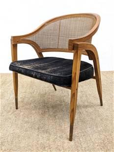 EDWARD WORMLEY for DUNBAR Lounge Chair. Caned Barrel Ba