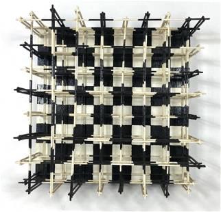 RONALD R BROWN Modernist Abstract Wall Sculpture. Black
