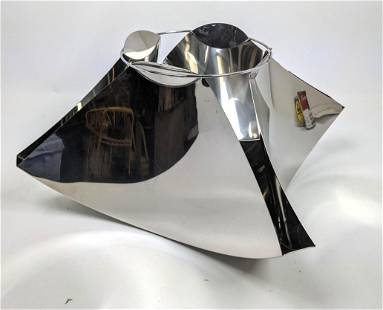 GIAN CASE for ROBOTS Milano Modernist Vase. Chrome pla