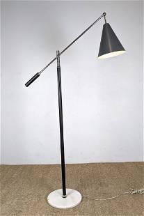Arredoluce style Cantilever arm Floor Lamp. Modernist c
