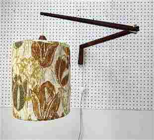 Modernist Wood Extension Arm Wall Scone Light Lamp. Flo