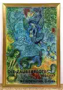 MARC CHAGALL Metropolitan Opera Poster. Framed. Die Zau