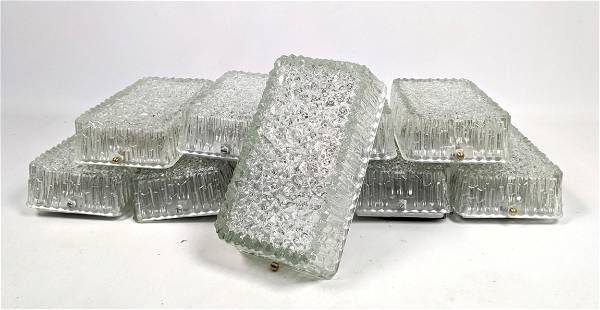 10pcs Mid Century Modern Glass Wall Sconces. Chipped