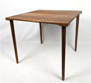Small France and Sons Side Table with tapered legs. Dan