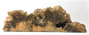JEFF TRAG 1987 Artisan Burl Wood Jewelry Box. Live Edge