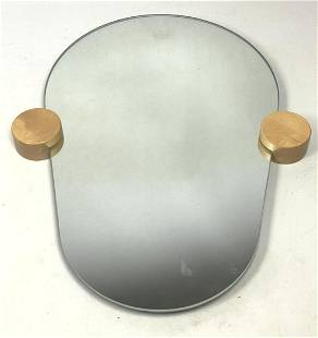 Decorative Wall Mirror with wood disc supports.