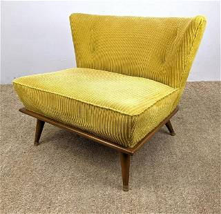50s Modern Lounge Chair. Tapered legs.