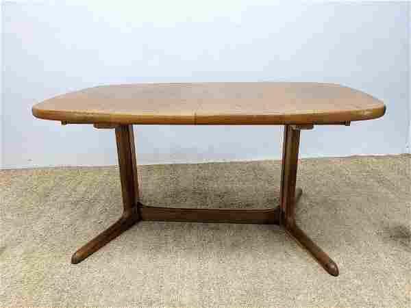 RASMUS Danish Modern Teak Dining Table. One 19.5 leaf.