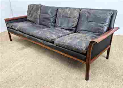 VATNE MOBLER Norway Modern Rosewood Sofa Couch. Black S