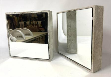 2pc Willy Guhl Modified Wall Mirrors. Framed Wall Mirro
