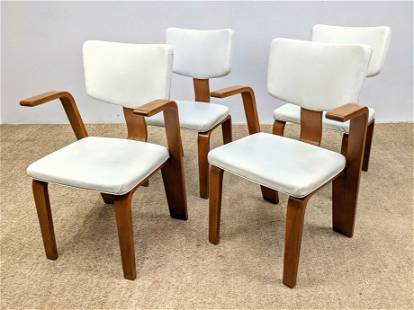 Set 4 THONET Laminated Wood Frame Dining Chairs. Two Ar