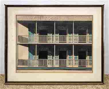 EMILIO SANCHEZ (Cuban/American) Color Lithograph. Two s