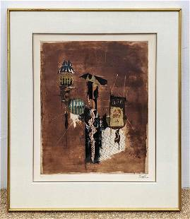 JOHNNY FRIEDLAENDER Original Signed Etching. Abstract M