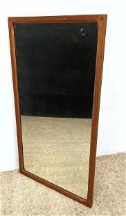 AKSEL KJERSGAARD ODDER Danish Modern Teak Wall Mirror.