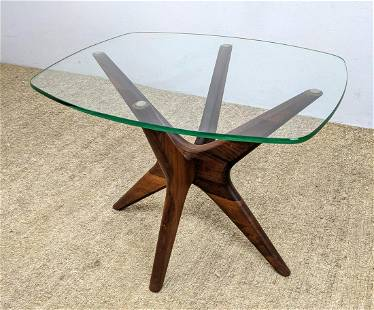 ADRIAN PEARSALL American Modern Walnut and Glass Side T