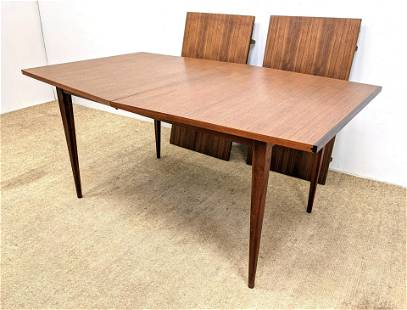 American Modern Dining table. Angled Sides. Dark Wood A