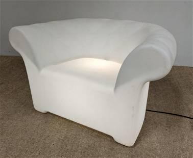 SERRALUNGA Light Up Seat Plastic Lounge Chair. DESIGN W