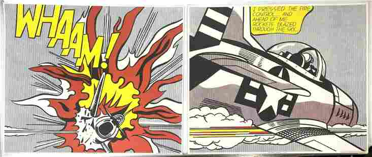 """Pr ROY LICHTENSTEIN Graphic Comic Prints. """"WHAAM! 1963"""""""