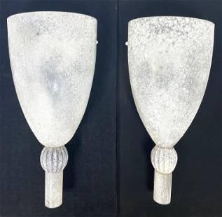 SEGUSO Vetri D'Arte Italian Art Glass Wall Sconces Ligh