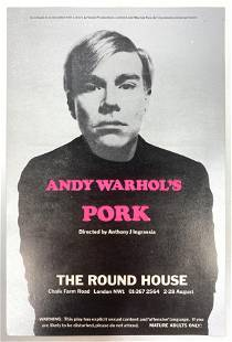 """ANDY WARHOL """"Pork"""" at the Round House Promotional Flyer"""