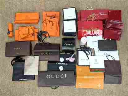Designer Brand CHANEL, GUCCI, HERMES Boxes and Bags