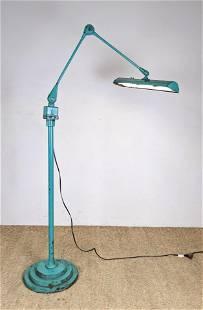 Industrial Adjustable Task Floor Lamp.