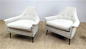Pair BEN SEIBEL Lounge Chairs. Newly upholstered.