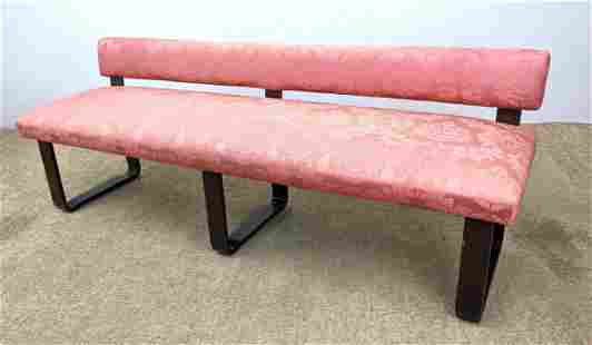 Edward Wormley Dunbar Low Bench with Back. Unmarked.