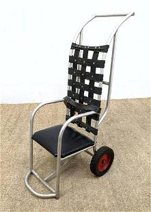 Industrial Childs Size Restraining Chair. Aluminum with
