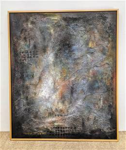 Large 1998 Chinese Painting on Canvas. Abstract Modern