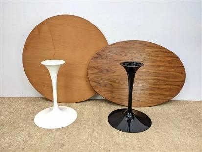 2pc EERO SAARINEN for KNOLL Tulip Tables. Black and W