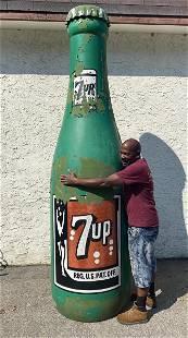 Massive 10ft 7UP Advertising Bottle Form Display.