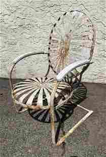 Francois Carre SUNBURST Iron Lounge Chair. Garden Chai