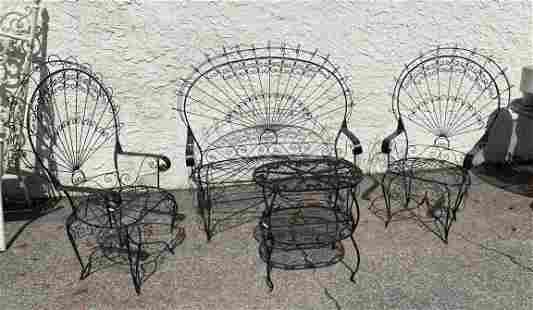 4pc Iron Outdoor Furniture. Matching Love Seat and Two