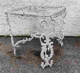 Ornate Cast Aluminum Fancy Table Base. Outdoor. Garden.